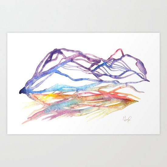 Varenna Sunset Art Print