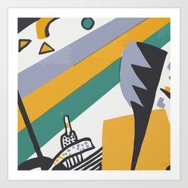 Kandinsky Close Up Vector Abstract Art Art Print