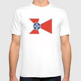 Wichita Kansas city flag united states of america T-shirt