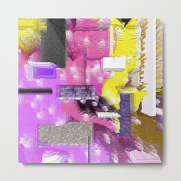 Pink and More Abstract Stacked Design Metal Print