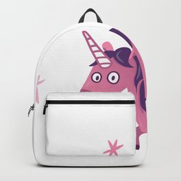 Purple and Pink Cute Unicorn with stars Backpack