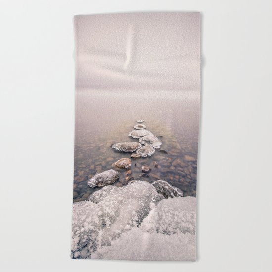 Frozen Path Beach Towel