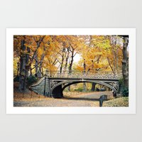 Autumn in New York City Central Park Art Print