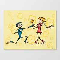 lovers Canvas Prints featuring Lovers by Giuseppe Lentini