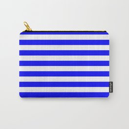 Horizontal Stripes (Blue/White) Carry-All Pouch