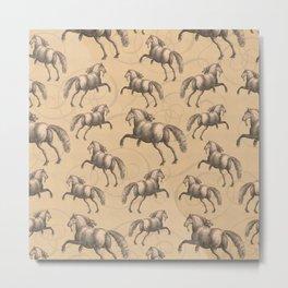 Galloping Spanish Horses Metal Print