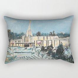 Atlanta Georgia LDS Temple Snowfall Rectangular Pillow
