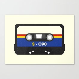 Black Cassette #2 Canvas Print