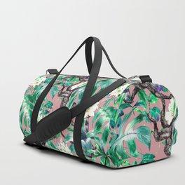 Monkeys in the flowery jungle Duffle Bag