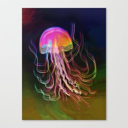 Jellyfish Smell of Summer Canvas Print