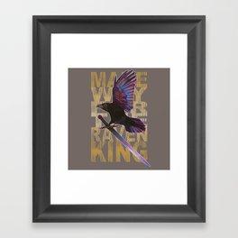 The Messenger/ Raven Cycle Framed Art Print