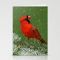 cardinal Stationery Cards featuring Cardinal by Janko Illustration