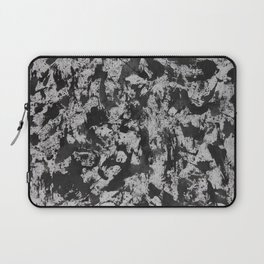 Black Watercolor on White Background Laptop Sleeve