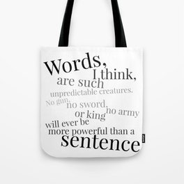 Words and Sentences Tote Bag