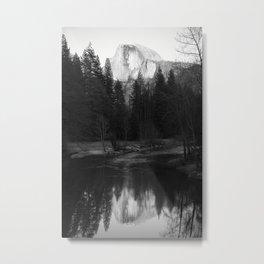 Half Dome and Reflection Metal Print