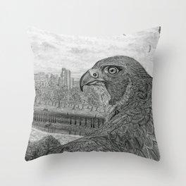 The Urban Peregrine Throw Pillow