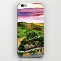 lord of the rings iPhone & iPod Skins featuring Lord of the Rings Hobbiton by KS Art & Design