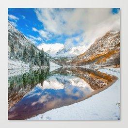 Natures Divine Canvas - Maroon Bells Aspen Colorado 1x1 Square Canvas Print