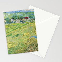 Vincent Van Gogh View Of Vessenots Near Auvers Stationery Cards