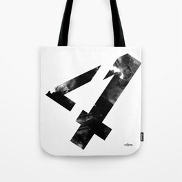 Black and White Abstract Geometric 4 Tote Bag