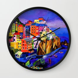 Manarola Cinque Terre Wall Clock