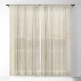 Vintage style rustic brown ivory country wood  Sheer Curtain