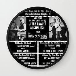 #11-B Memphis Wrestling Window Card Wall Clock