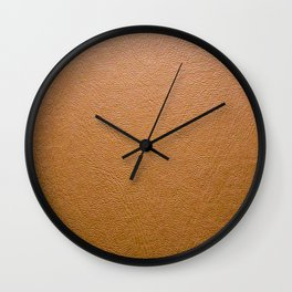 Real Leather Design Wall Clock