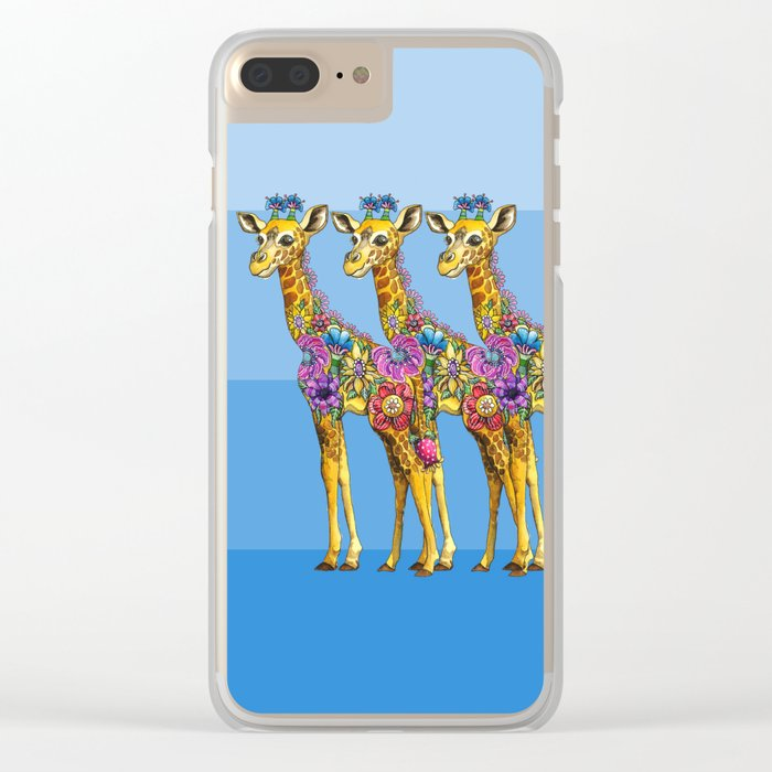 Triplets Clear iPhone Case