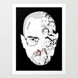 Breaking Bad: Walter White broken down Art Print
