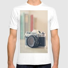 Vintage Film Camera  Mens Fitted Tee White MEDIUM