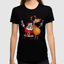 Santa Claus and his Reindeer T-shirt
