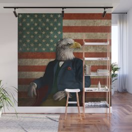 Official Portrait of Senator Silas Eagle Wall Mural
