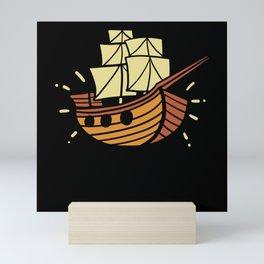 Children's Pirate Ship Gift Motif Mini Art Print