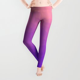 Pink and Purple Ombre - Swirly Leggings