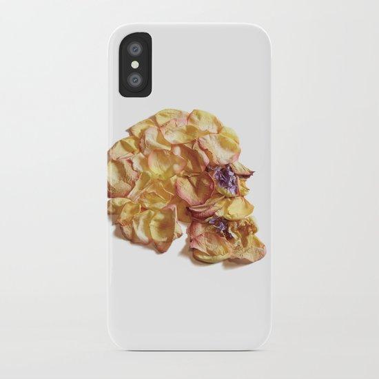 60. Flower Skull iPhone Case
