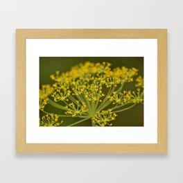 Garden Gold Framed Art Print