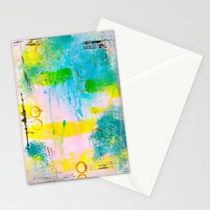 Abstract with Circles Stationery Cards