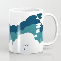 cloud Mugs featuring Cloud by Herber Crispin