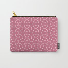 Geometric smoked-pink all-over pattern Carry-All Pouch
