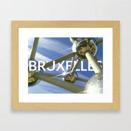 Bruxelles city Framed Art Print