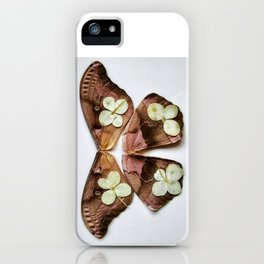 Moth with Yellow Flowers iPhone Case