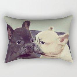 Frenchie kiss Rectangular Pillow