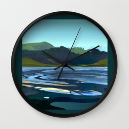 Low Tide, Late Evening Wall Clock