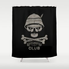Explorer's Club Shower Curtain