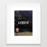 childish gambino Framed Art Prints featuring Childish Gambino by blakethewizz