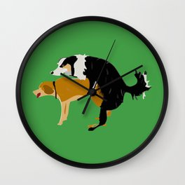 DOGS MATE SEX MAKE LOVE Wall Clock