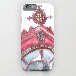 A Cherry Red Facade of Sant Antoni Market, Barcelona iPhone Case