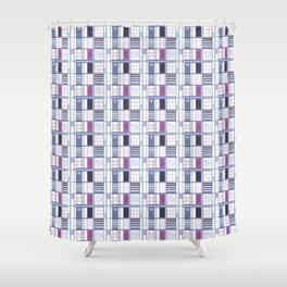 Uvas-Cuadricula  Shower Curtain