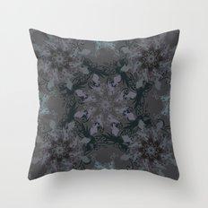 Damask, grey Throw Pillow